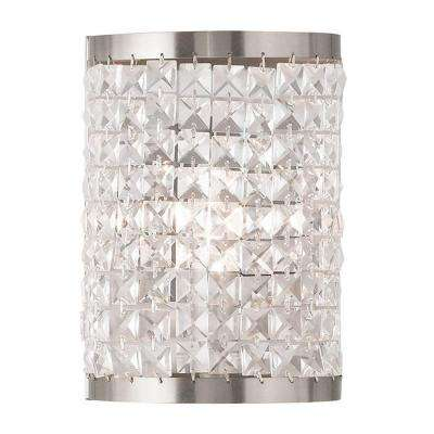 Grammercy 1-Light Brushed Nickel Wall Sconce