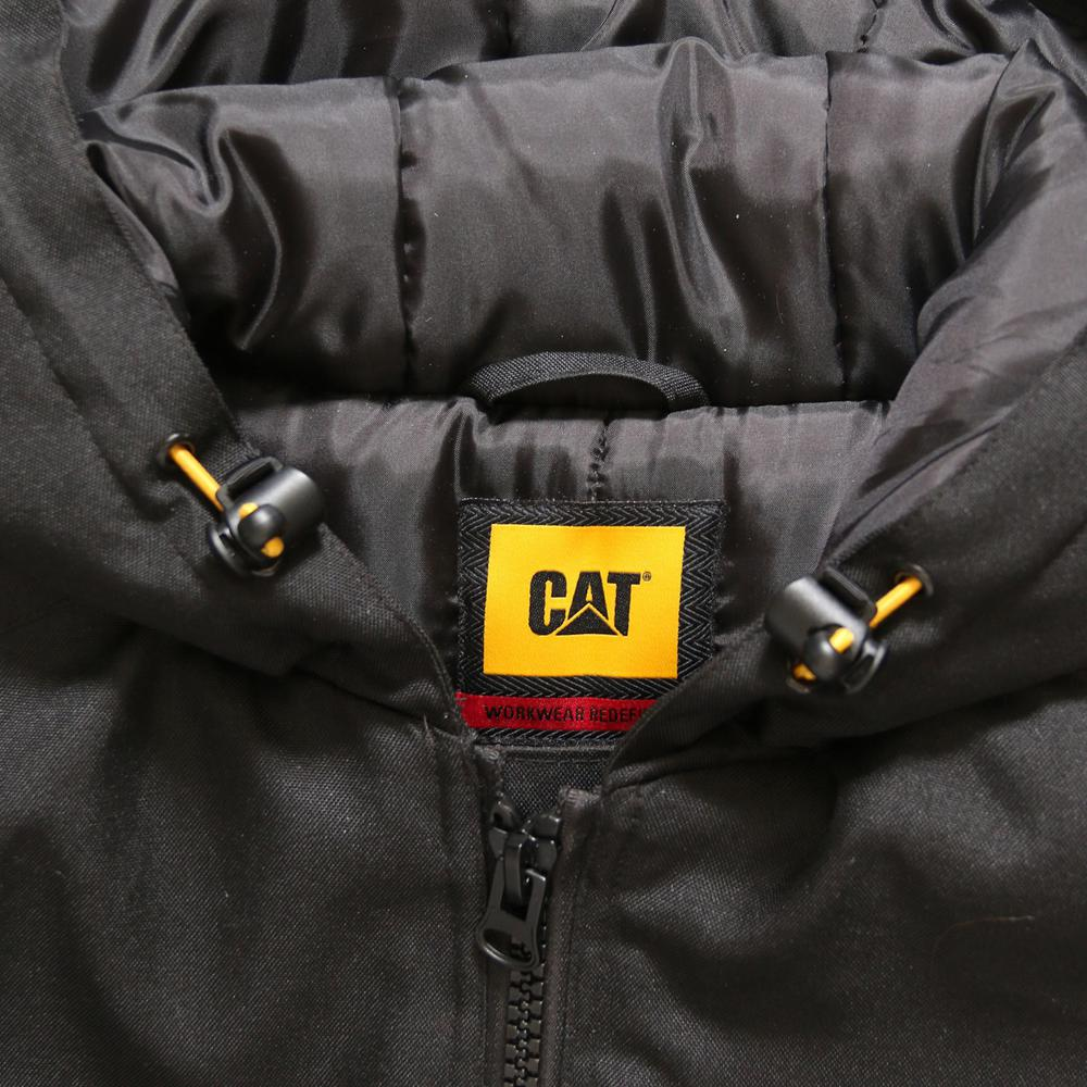 Caterpillar Aspen Mens X Large Black Polyester Water Resistant Insulated Jacket