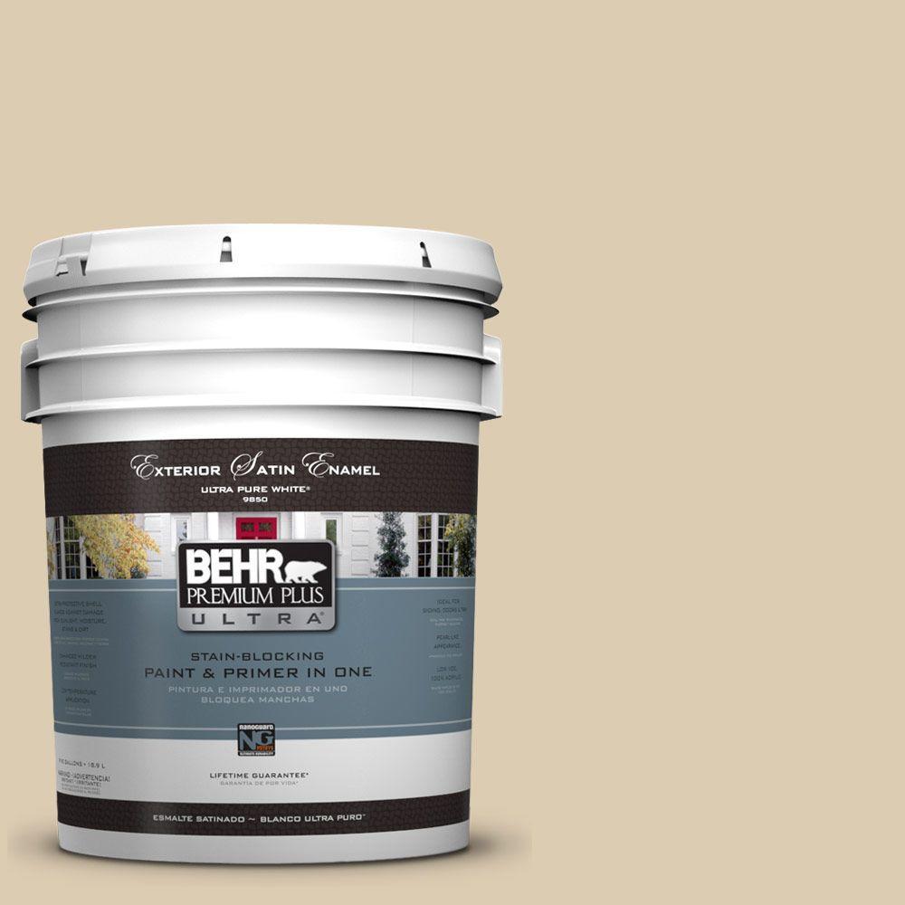 BEHR Premium Plus Ultra 5-gal. #UL160-15 Bone Satin Enamel Exterior Paint