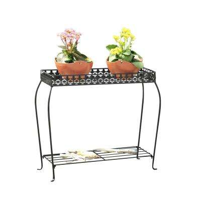 23 in. Rectangular Iron Plant Stand