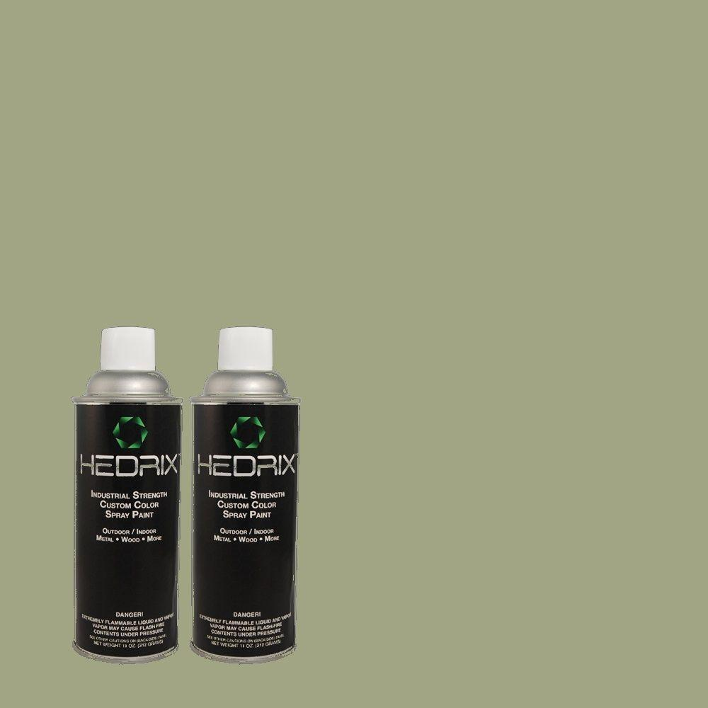 Hedrix 11 oz. Match of 440F-4 Athenian Green Low Lustre Custom Spray Paint (2-Pack)
