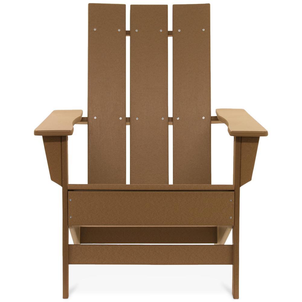 Aria Teak Recycled Plastic Modern Adirondack Chair