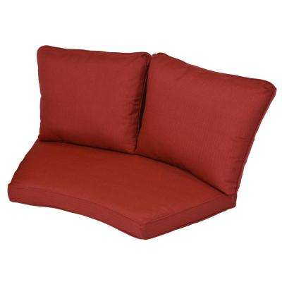 Torquay Chili Replacement 2-Piece Outdoor Sectional Cushion