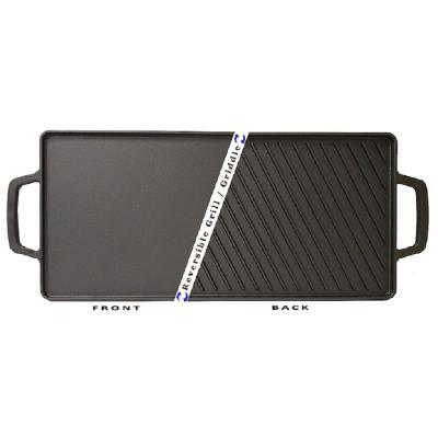 18 in. Cast Iron Rectangular Double Reversible Grill/Griddle Non-Stick