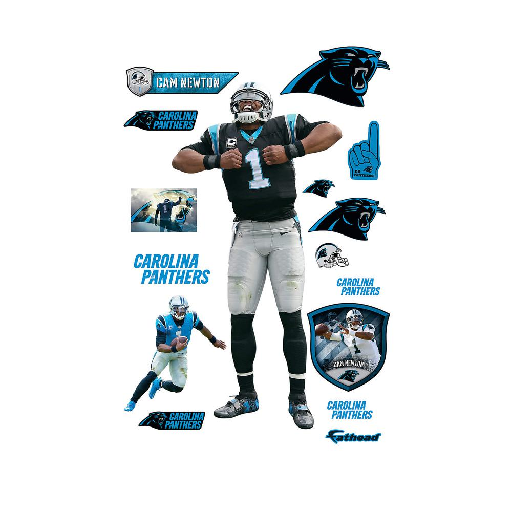 Fathead 78 in. H x 39 in. W Cam Newton - Superman Wall Mural-12-21660 - The  Home Depot 89aec0cce