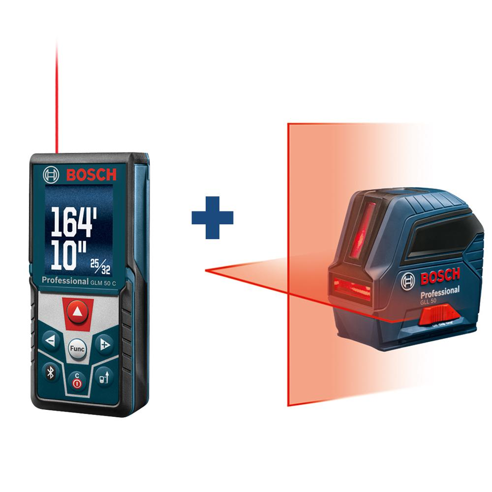 165 ft. Laser Distance Measurer with Bluetooth and Full Color Display