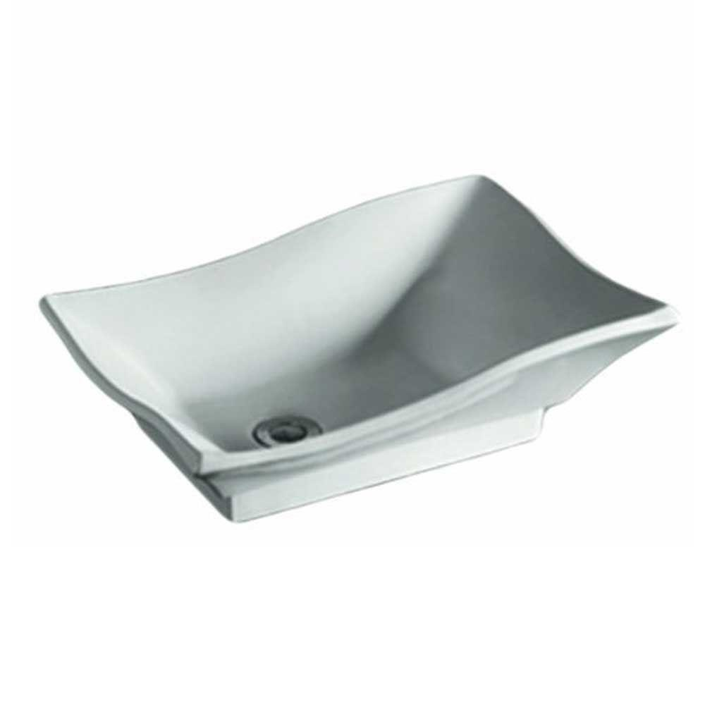 Whitehaus Collection Isabella Vessel Sink in White-WHKN1078-WH ...