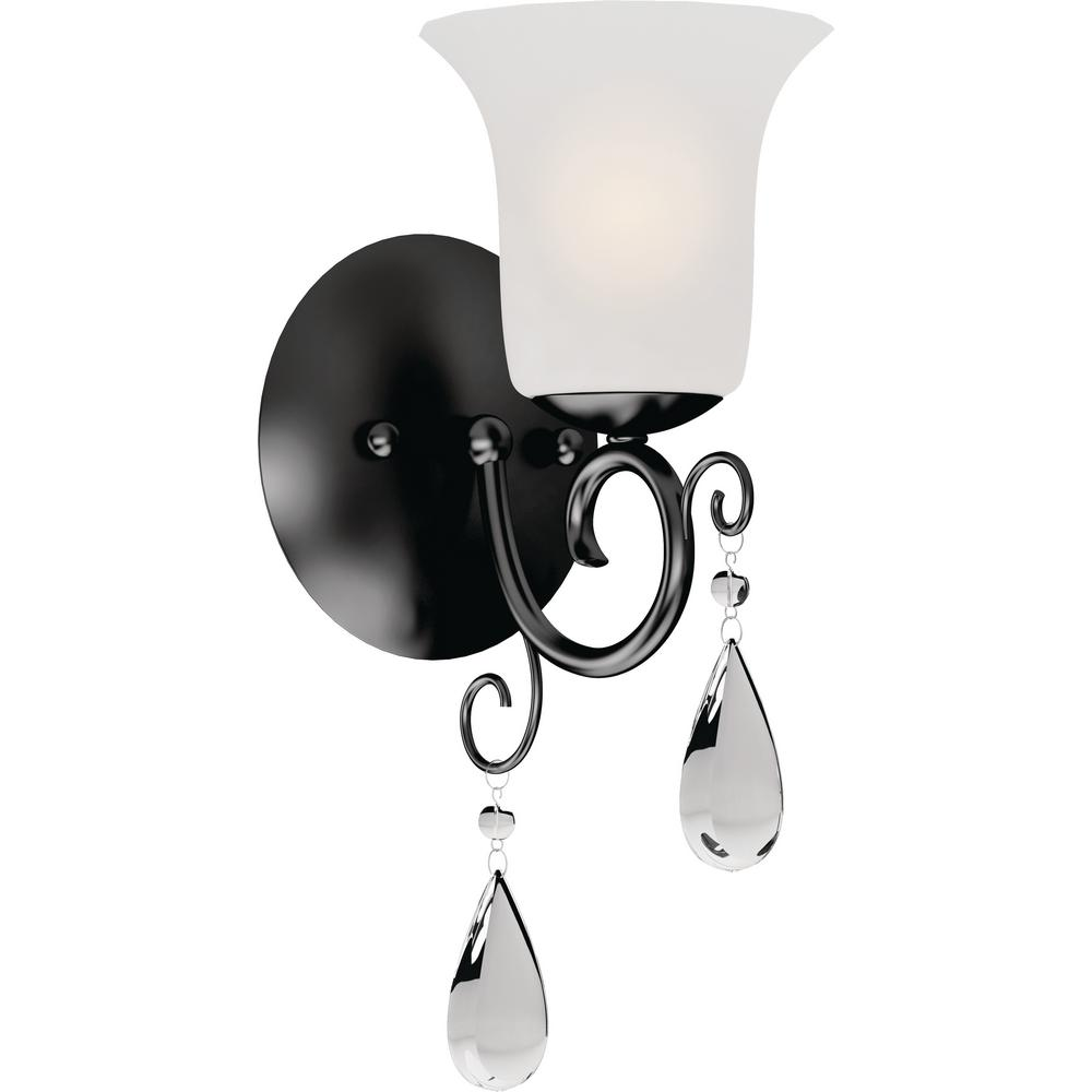 Volume Lighting Ava 1 Light 5 25 In Foundry Bronze Indoor Vanity Wall Sconce Or Mount With Frosted Gl Bell Shade