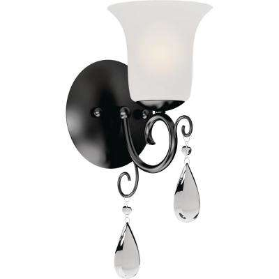 Ava 1-Light 5.25 in. Foundry Bronze Indoor Vanity Wall Sconce or Wall Mount with Frosted Glass Bell Shade