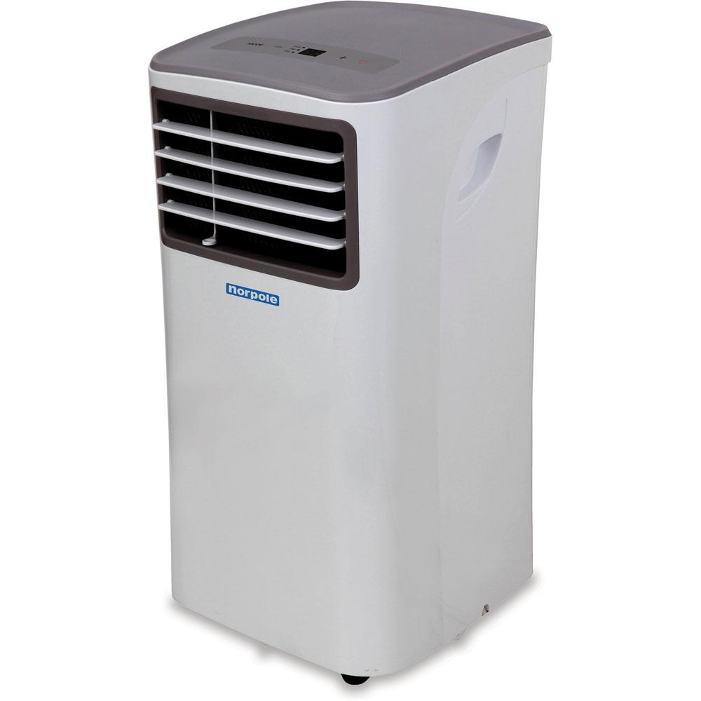 Norpole 10,000 BTU 5,500 BTU (DOE) Portable Air Conditioner with Remote Control for Rooms up to 450 sq. ft. in White