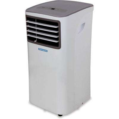 10,000 BTU 5,500 BTU (DOE) Portable Air Conditioner with Remote Control for Rooms up to 450 sq. ft. in White