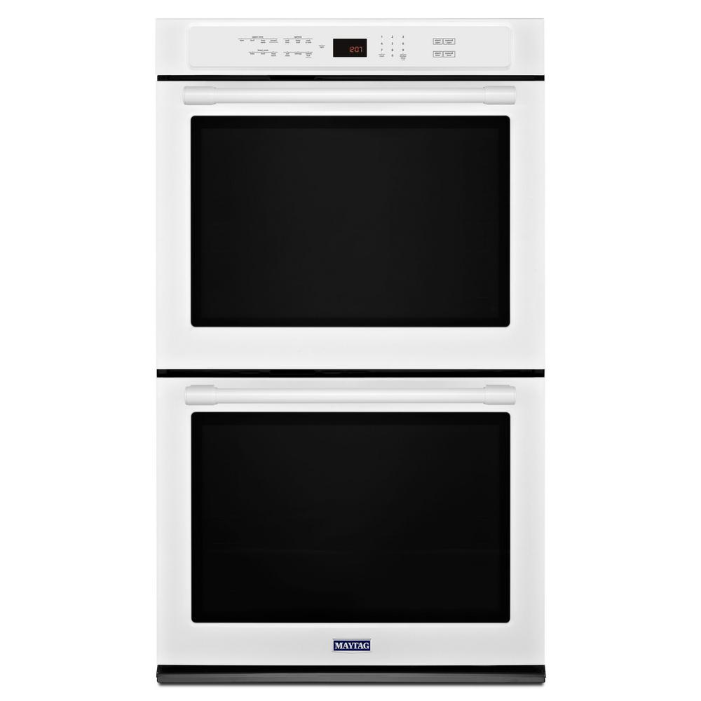 Double Electric Wall Oven With Convection In White