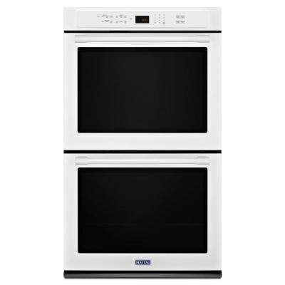 30 in. Double Electric Wall Oven with Convection in White