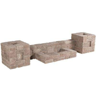 RumbleStone 112 in. x 21 in. x 24.5 in. Column/Wall Kit in Cafe