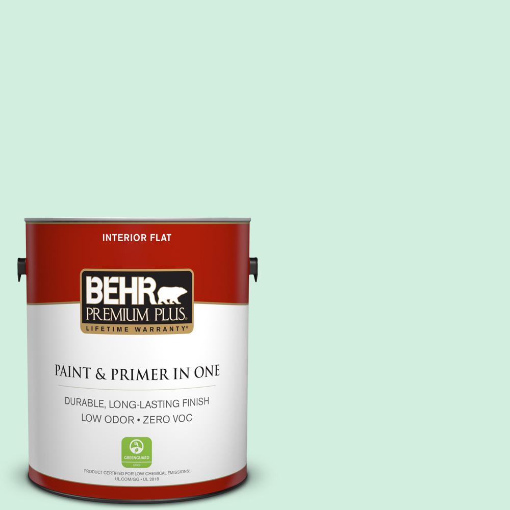 1 gal. #480C-2 Pastel Jade Flat Zero VOC Interior Paint and