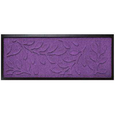 Purple 15 in. x 36 in. Brittany Leaf Boot Tray