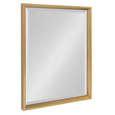 Calter Rectangle Gold Wall Mirror