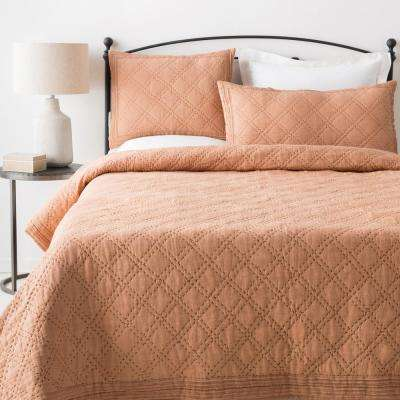 Milena Tan Twin Duvet Set