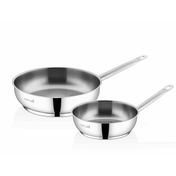 2-Piece 10 in. and 8 in. Stainless Steel Fry Pan Set