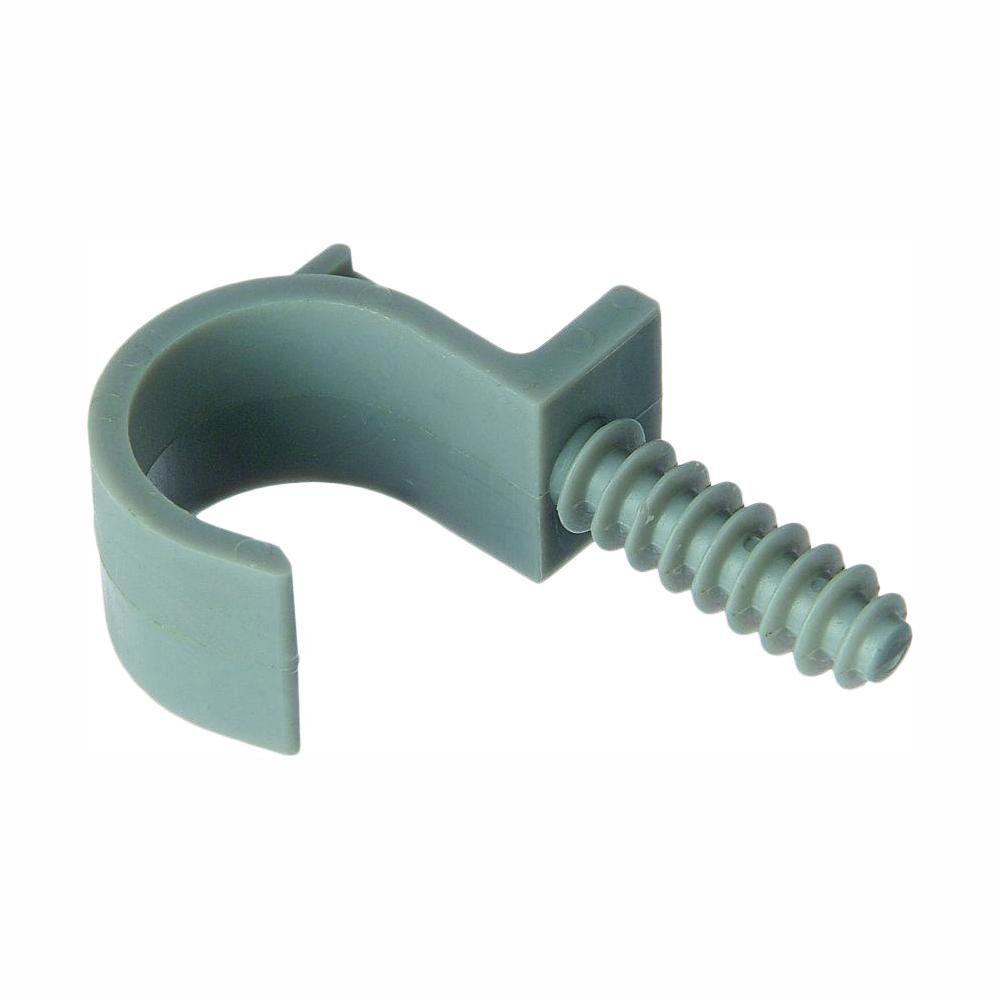Carlon 1/2 in. PVC Masonry Pipe Clamp (12 Packs of 5/Case - 60 Total Pieces)