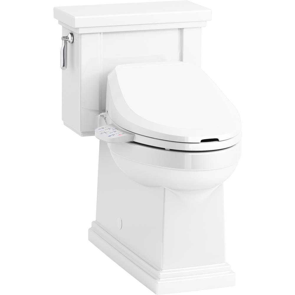 Miraculous Kohler Tresham 1 Piece 1 28 Gpf Single Flush Elongated Toilet With C3 125 Electric Bidet Toilet Seat In White Gmtry Best Dining Table And Chair Ideas Images Gmtryco