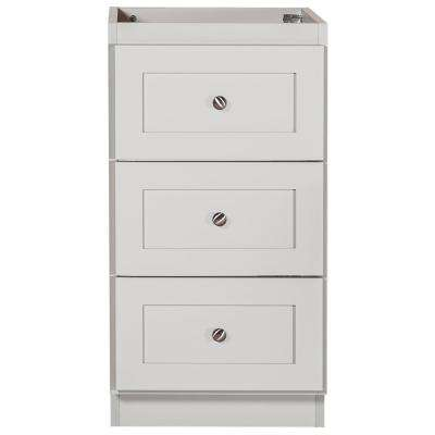 Shaker 18 in. W x 21 in. D x 34.5 in. H Bath Vanity Cabinet Only with Drawer Bank in Dewy Morning