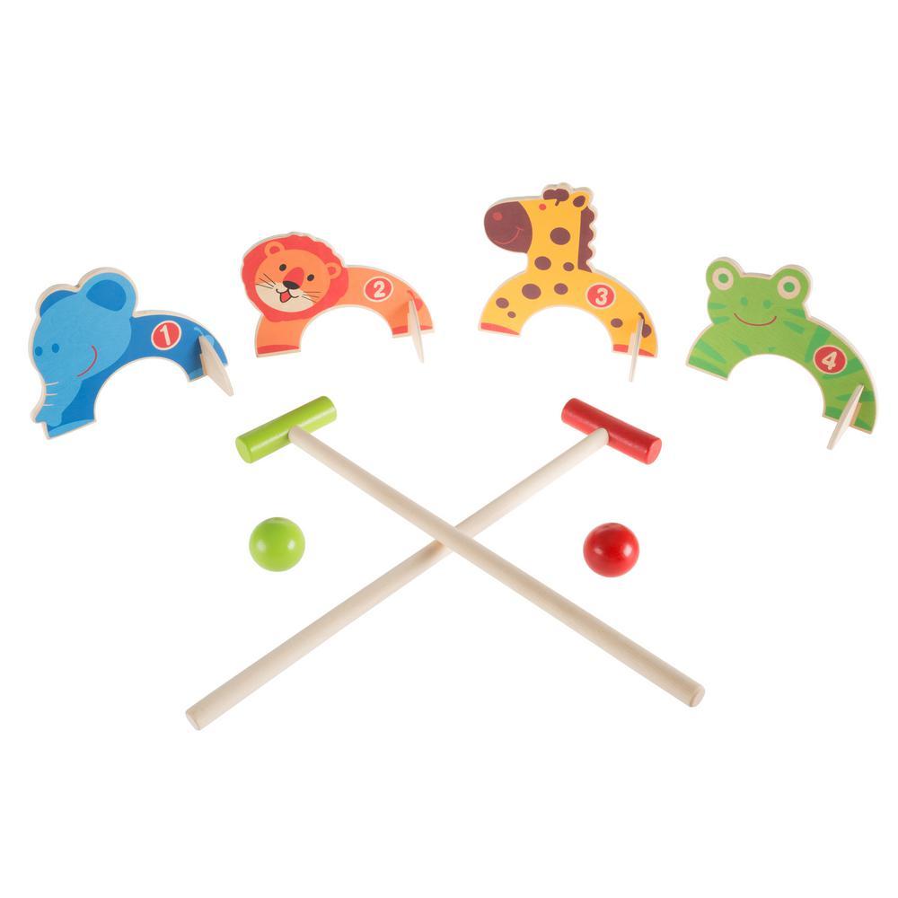 Kids Zoo Animal Mini Croquet Playset