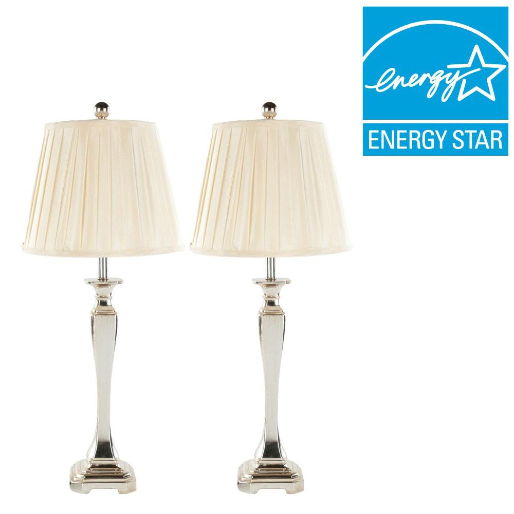 Safavieh athena 28 in champagne table lamp set of 2 lit4025a champagne table lamp set of 2 audiocablefo light catalogue