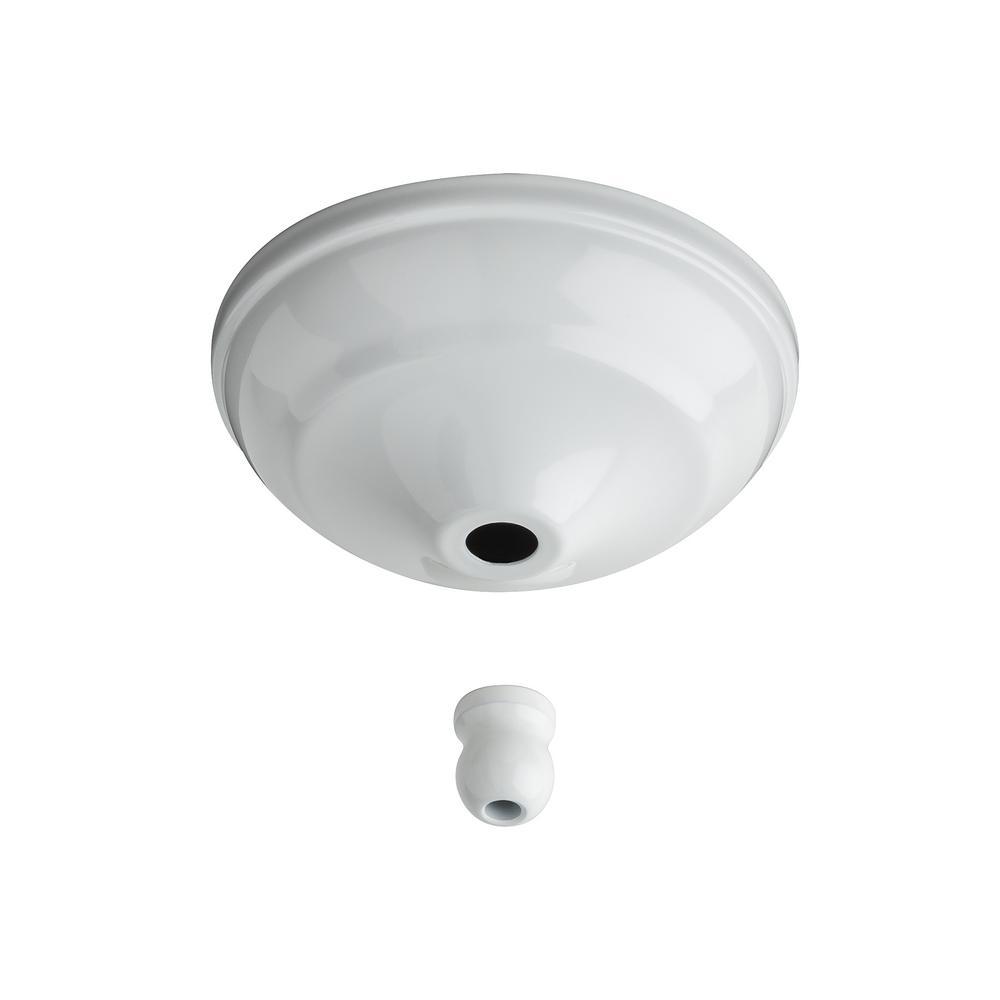Hampton Bay Glendale 42 In. White Switch Cap-1000044891037