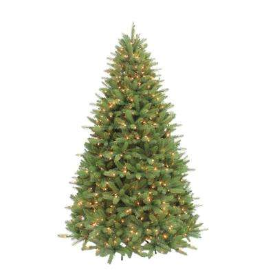 7.5 ft. Pre-Lit Douglas Fir Premier Incandescent Light Artificial Christmas Tree with 800 Sure-Lit Clear Lights