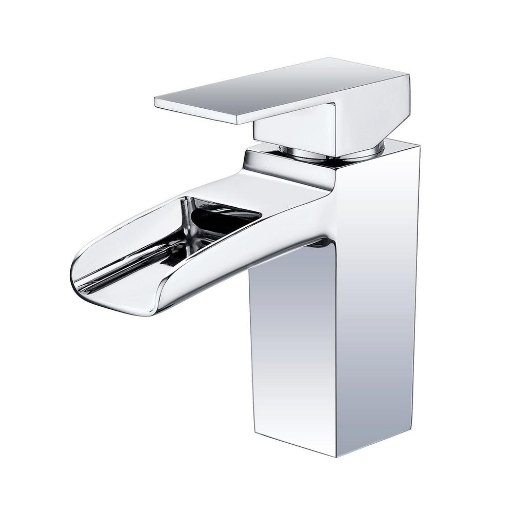 Vanity Art 6.8 in. Single Hole Single-Handle Lever Vessel Bathroom Faucet in Chrome, Grey was $116.0 now $81.2 (30.0% off)