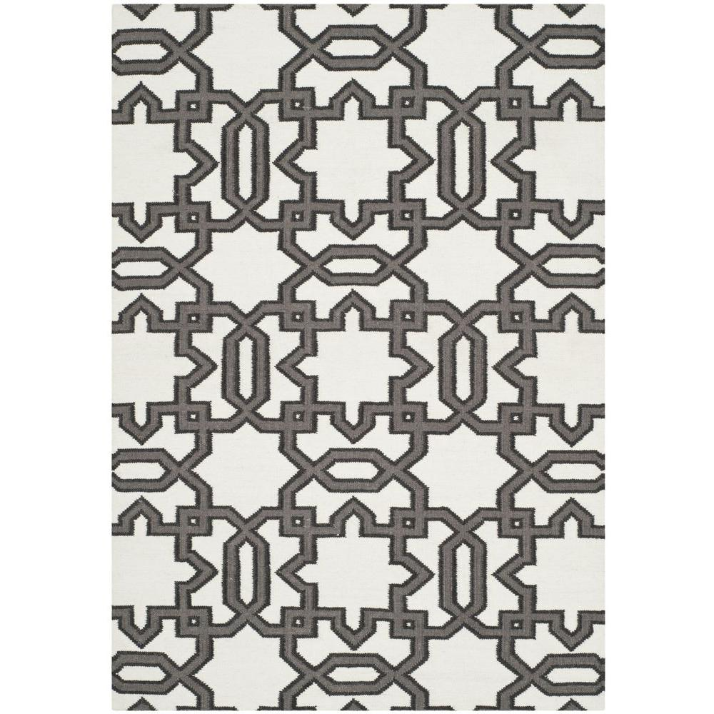 Safavieh Moroccan Shag Ivory Grey 4 Ft X 6 Ft Area Rug