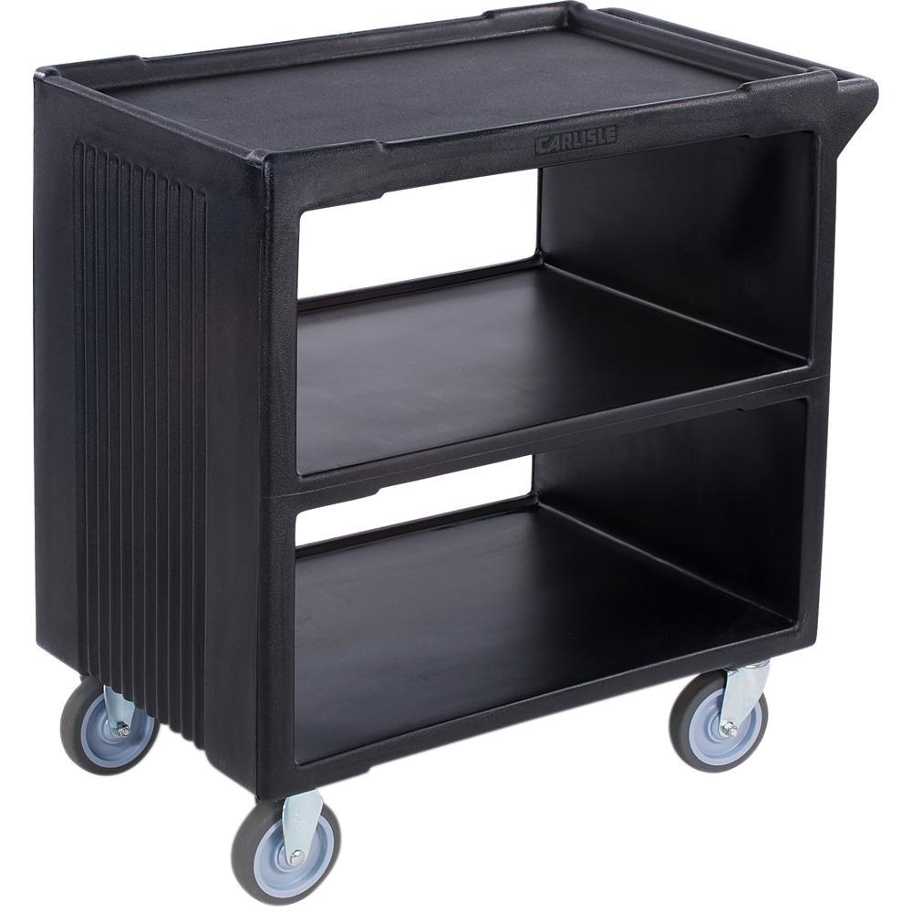 34.25 in.H x 20.25 in. H x 34 in. D Black 3-Shelf Cart