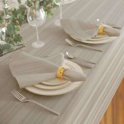 17 in. W x 17 in. L Elrene Denley Stripe Damask Gray Fabric Napkins (Set of 4)