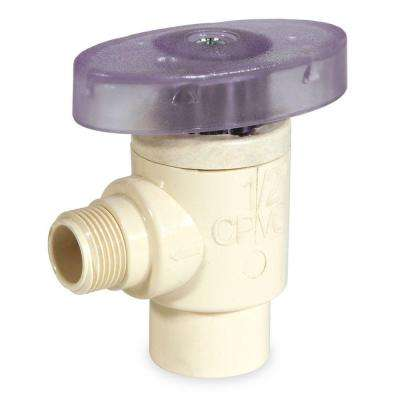 1/2 in. x 3/8 in. OD CPVC CTS Angle Supply Valve