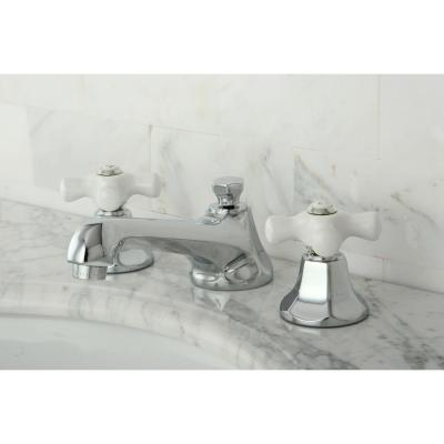 8 in. Widespread 2-Handle Mid-Arc Bathroom Faucet in Polished Chrome