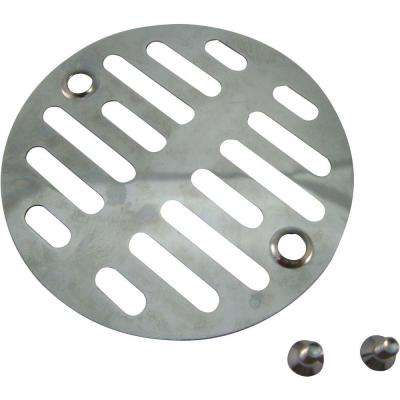 3-3/8 in. Steel Shower Drain Strainer