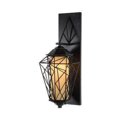 Wright Stuff 1-Light Black Outdoor Small Sconce