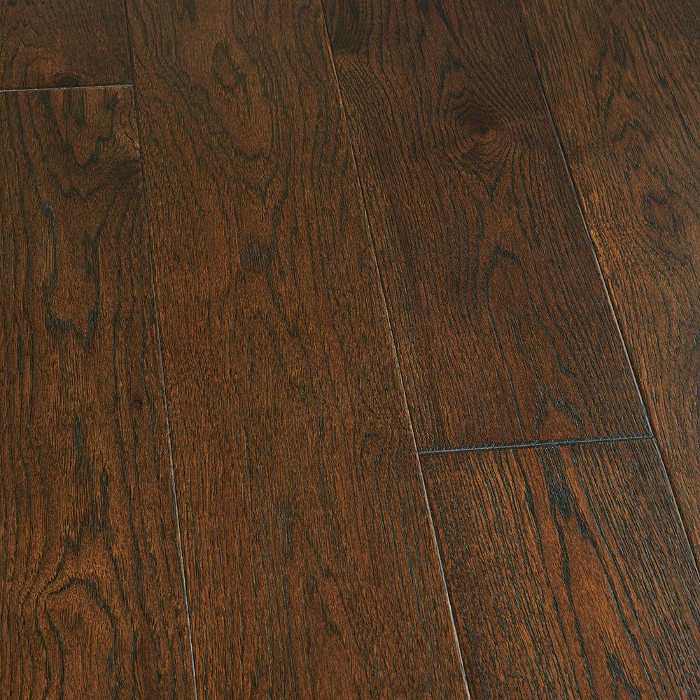 Malibu Wide Plank Take Home Sample Hickory Trestles Click Lock Hardwood Flooring 5 In. X 7 In.