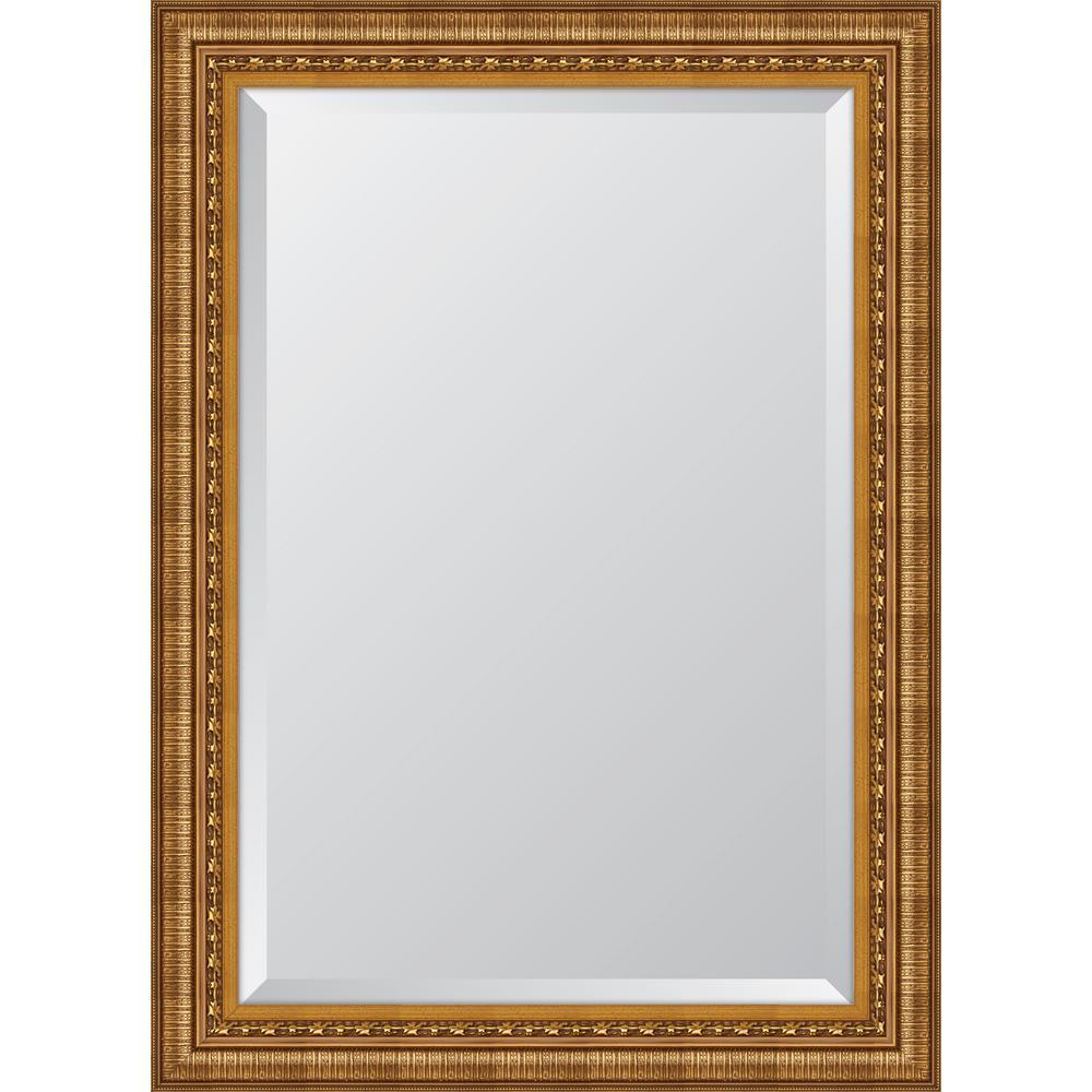 31.5 in. x 43.5 in. Framed Ornate Gold Resin Frame Mirror