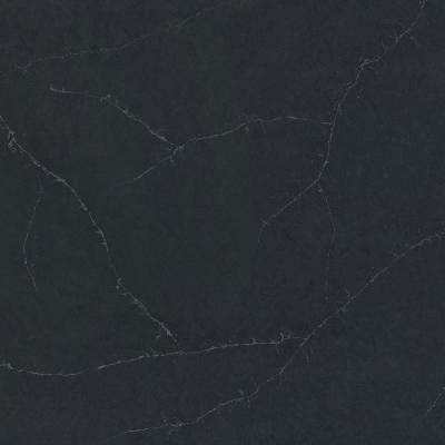 2 in. x 4 in. Quartz Countertop Sample in Charcoal Soapstone Suede