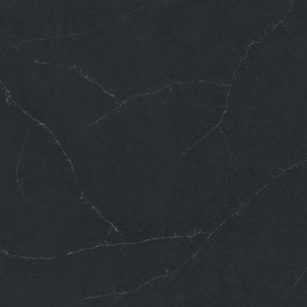quartz countertop sample in charcoal soapstone suede - Black Countertops