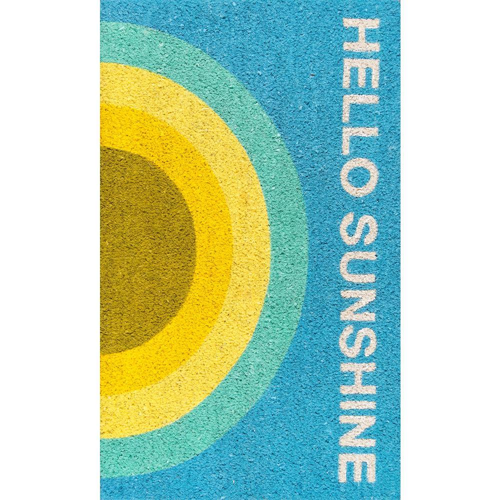 Hello Sunshine Multi 18 inch x 30 inch Door Mat by
