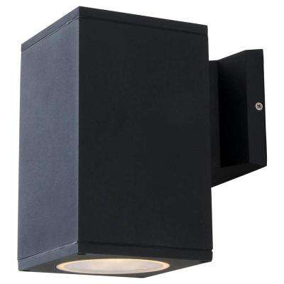 Kathy 1-Light Matte Black Outdoor Wall Mount Sconce