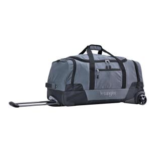 30 in. Gray 2-Section Drop-Bottom Rolling Duffel Bag