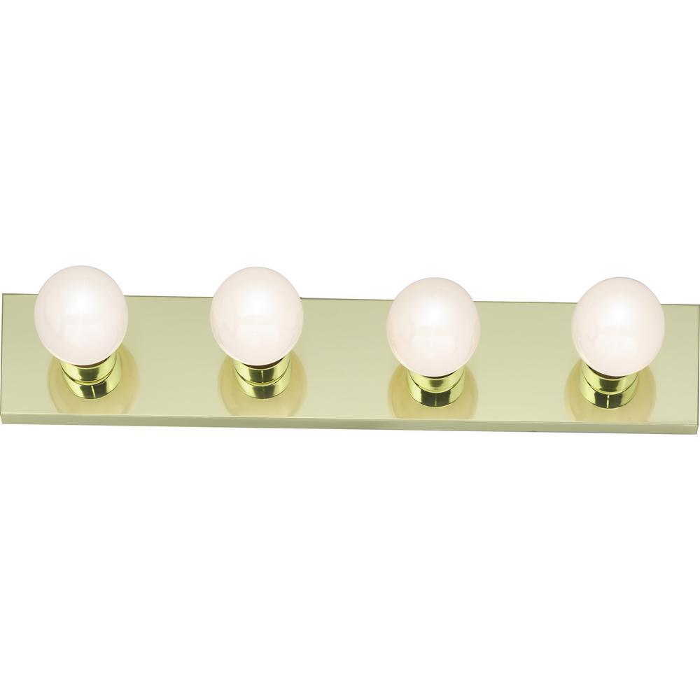 Tony 24.00 in. 4-Light Polished Brass Vanity Light