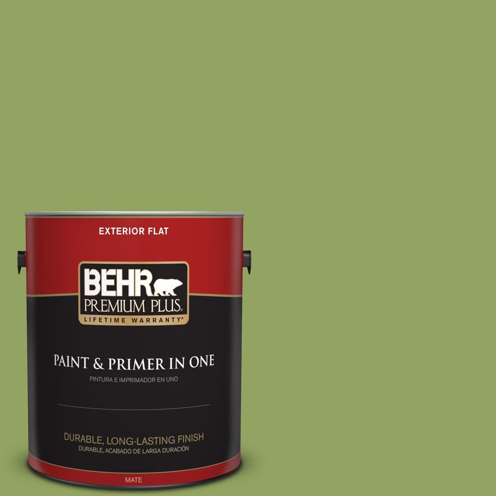 BEHR Premium Plus Home Decorators Collection 1-gal. #HDC-MD-15 Zesty Apple Flat Exterior Paint