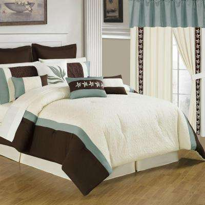 Anna Cream 25-Piece King Comforter Set