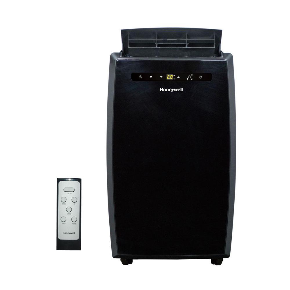 10,000 BTU Portable Air Conditioner with Dehumidifier and Remote Control in Black