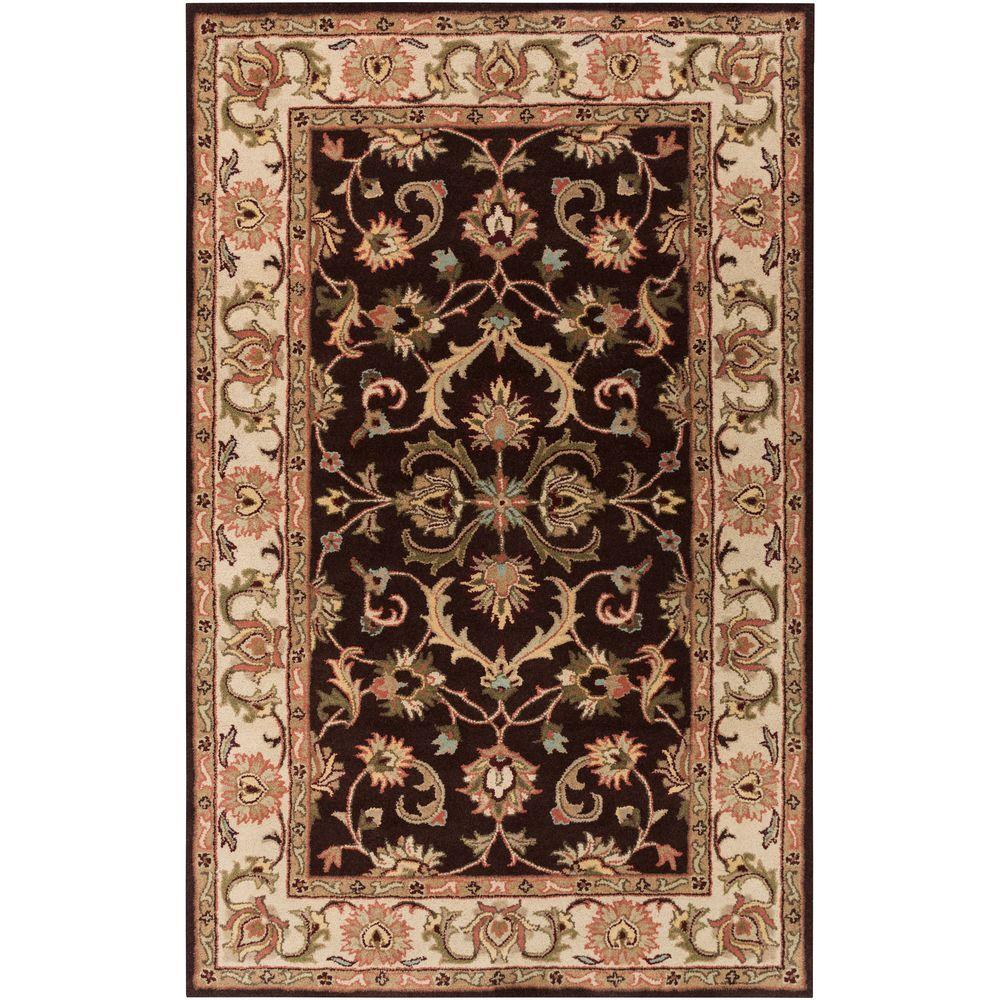 Oxford Aria Chocolate 2 ft. x 3 ft. Indoor Accent Rug